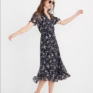 Madewell flowy navy blue dress